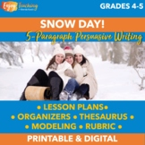 Snow Day: Five-Paragraph Persuasive Essay