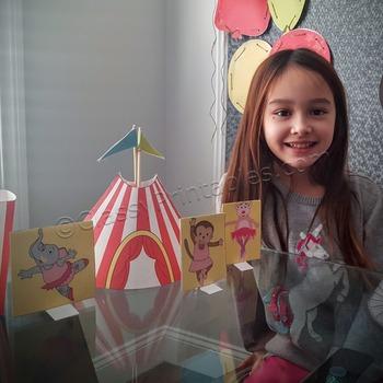 Snow Day, Indoor Recess Circus Theme circus tent ballerina