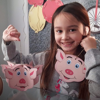 Snow Day, Indoor Recess Circus Theme pig ornaments craft a