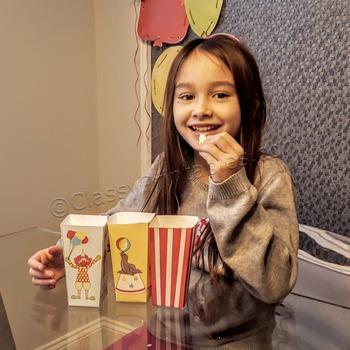 Snow Day, Indoor Recess Circus Theme popcorn/treat bags cr