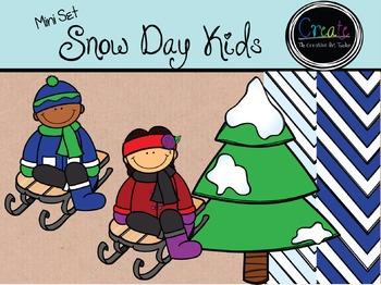 Snow Day KIDS {Mini Set} - Digital Clipart