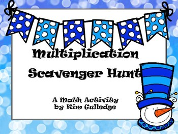 Snow Day Multiplication Scavenger Hunt - 4.NBT.5 - Around