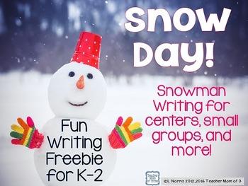 Snowman Winter Writing Mini-Pack FREEBIE!