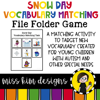 Snow Day Vocabulary Folder Game for Early Childhood Specia