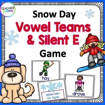 Snow Day: Silent E &Vowel Team Game