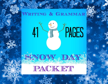 Snow Day Writing and Grammar Packet