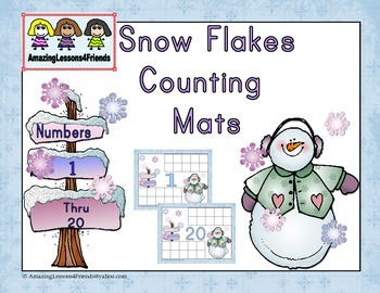 Snow Flakes Counting Mats