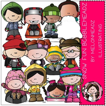 Snow Fun Bobbleheadz by Melonheadz COMBO PACK