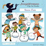 Snow Fun Clip Art