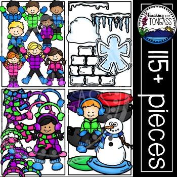 Snow Winter Clipart Bundle