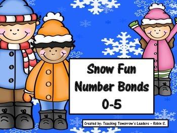 Snow Fun Number Bonds 0-5