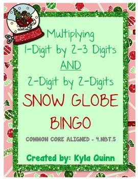Snow Globe Bingo: Multiplying 1-Digit by 2-3 Digit AND 2-D