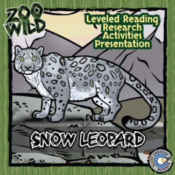 Snow Leopard -- 10 Resources -- Coloring Pages, Reading &