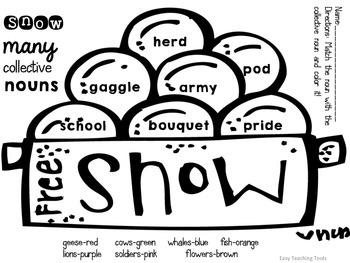 Snow Many Nouns {Common-Proper-Collective-Irregular} FREEBIE