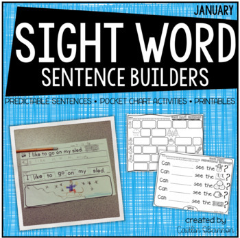 Snow Many Sentences {Winter Sentence Building Activities f