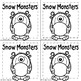 Snow Monsters Fun with Word Families, Digraphs and Blends