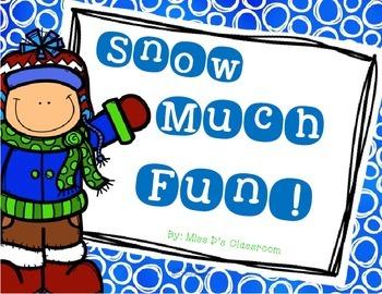 Snow Much Fun! : A Winter Break Activity