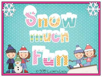 Snow Much Fun: Literacy & Math Pack