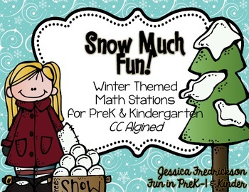Snow Much Fun: Winter Math Work Stations for PreK & Kinder