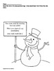Snow Person (snowman) Counting and Skip Counting!  (Color,
