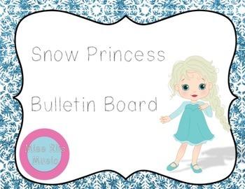 Snow Princess Bulletin Board