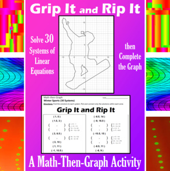 Grip It and Rip It - A Math-Then-Graph Activity - Solve 30