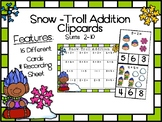 Snow-Troll Addition Clip Cards