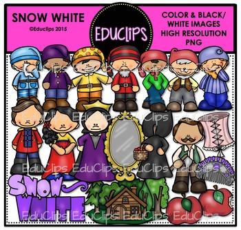 Snow White Clip Art Bundle {Educlips Clipart}