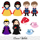 Snow White Digital Clip Art, Seven Dwarves Clip Art, Princ