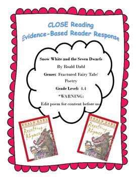 Snow White (Roald Dahl) Poem CLOSE Reading Questions