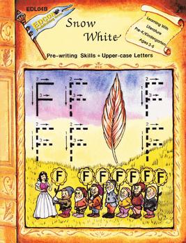Snow White, Pre-writing Skills, Upper-case Letter