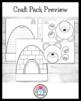 Winter Craft Pack 2:Eskimo Kids,Penguin,Melted Snowman,Pol