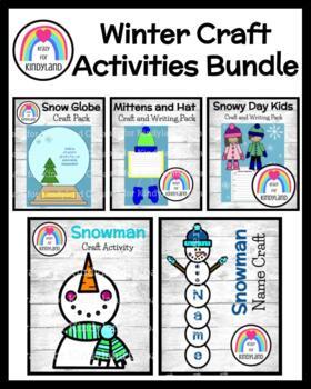 Winter Craft Pack: Snowman, Name Snowman, Kids, Snow Globe