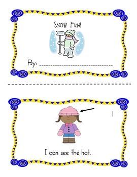 Snow is Fun book!  Emergent reader, sight words
