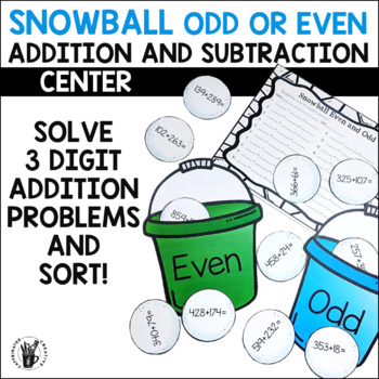 Snowball Even and Odd Center