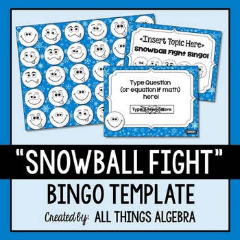 Bingo Game Template: Snowball Fight