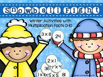 Snowball Fight!  Workstation Activities for Multiplication