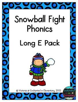 Snowball Fight Phonics: Long E Pack