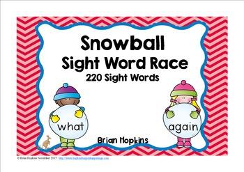 Snowball Sight Word Race