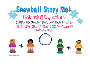 Snowball Story Mat & Printables for Balancing Equations an