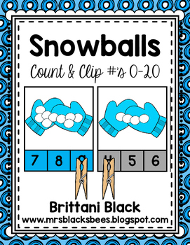 Snowballs~ Count and Clip