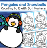 Dot Markers Penguins Counting