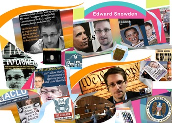 Edward Snowden FREE POSTER Whistleblower Governmental Surv