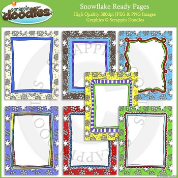 Snowflake 8 1/2 x 11 Ready Pages