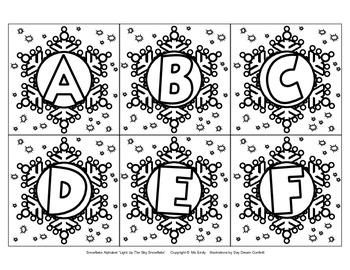 Snowflake Alphabet ABC...123...