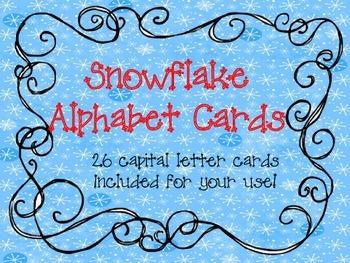 Snowflake Alphabet Cards