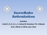 Snowflake Articulation Packet