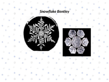Snowflake Bentley Vocabulary Power Point with Quiz