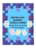 Snowflake Blends Word Puzzle cards