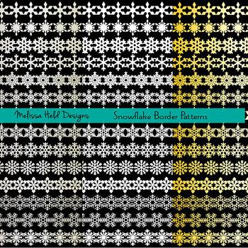 Clipart: Snowflake Border Patterns Clip Art